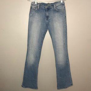 Bebe light wash flare jeans